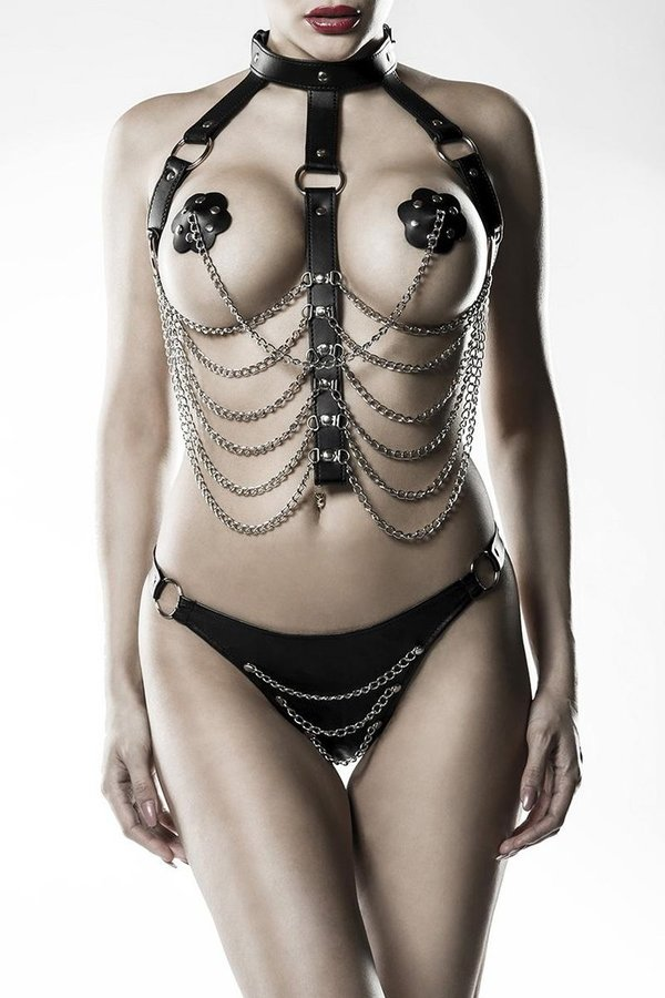 Erotic Chain Harness Set by Grey Velvet