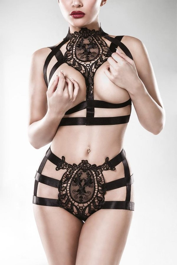 Erotic Harness Bustier Set by Grey Velvet